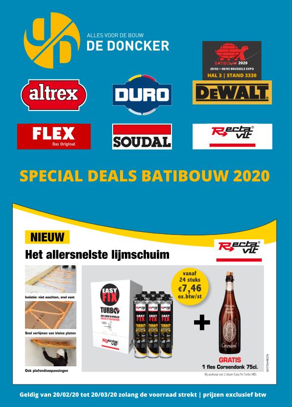 special deals batibouw 2020 1