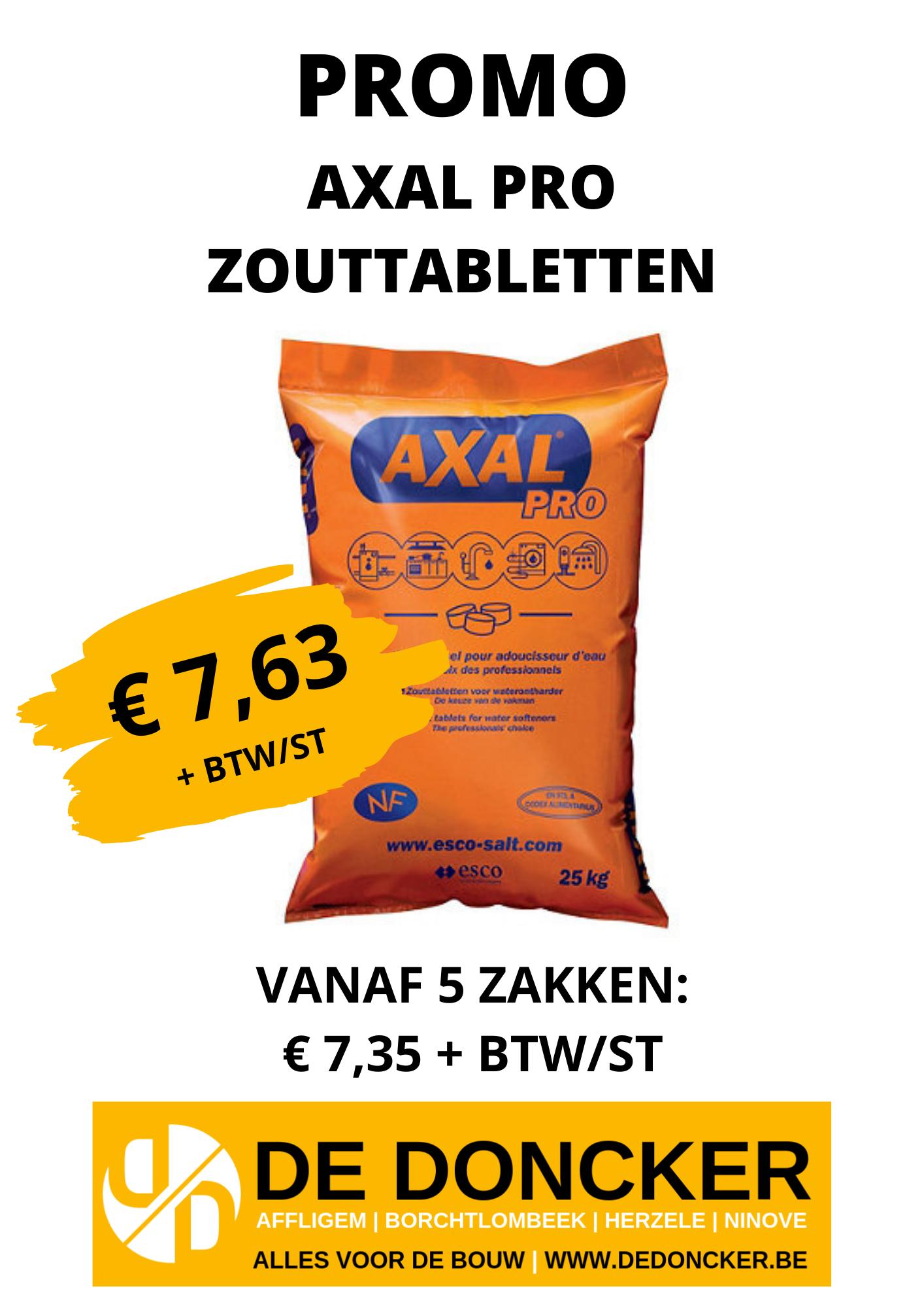 Promo Axal zouttabletten